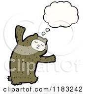 Cartoon Of A Child Dressed Up In A Bear Costume With A Conversation Bubble Royalty Free Vector Illustration