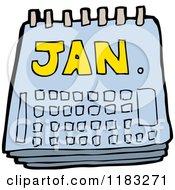 Cartoon Of A Calendar Royalty Free Vector Illustration