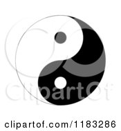 Clipart Of A Black And White Yin Yang Royalty Free Illustration by oboy