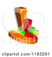 Clipart Of A 3d Pie Chart And Bar Graph Royalty Free CGI Illustration by MacX