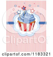 Clipart Of A Fourth Of July Cupcake With Independence Day Stars And Stripes Royalty Free Vector Illustration