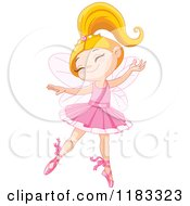 Cartoon Of A Happy Fairy Ballerina Dancing Royalty Free Vector Clipart by Pushkin