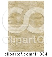 Old Paper With Wrinkle And Crinkles Clipart Illustration