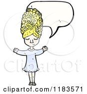 Cartoon Of A Woman With Fancy Hair Speaking Royalty Free Vector Illustration