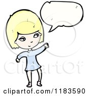 Cartoon Of A Woman Speaking Royalty Free Vector Illustration