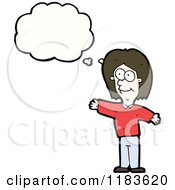 Cartoon Of A Woman Thinking Royalty Free Vector Illustration