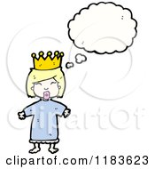 Cartoon Of A Queen Thinking Royalty Free Vector Illustration