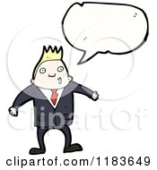 Cartoon Of A Man Wearing A Suit Speaking Royalty Free Vector Illustration