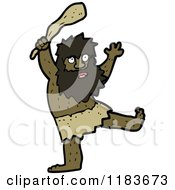Cartoon Of A Caveman Holding A Club Royalty Free Vector Illustration by lineartestpilot