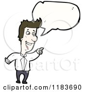 Cartoon Of A Man Speaking Royalty Free Vector Illustration