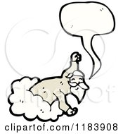 Cartoon Of A God In A Cloud Speaking Royalty Free Vector Illustration by lineartestpilot