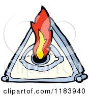 Cartoon Of A Mystic Eye Royalty Free Vector Illustration
