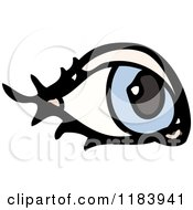 Cartoon Of An Eye Royalty Free Vector Illustration