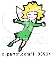 Cartoon Of A Fairy Royalty Free Vector Illustration by lineartestpilot