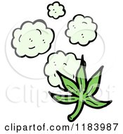 Poster, Art Print Of Marijuana Leaf With Smoke Puffs