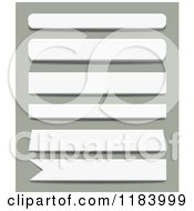 Clipart Of 3d White Banner Designs Royalty Free Vector Illustration by vectorace