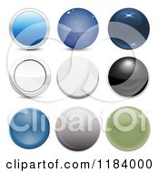 Clipart Of 3d Shiny Website Bubbons And Orbs Royalty Free Vector Illustration