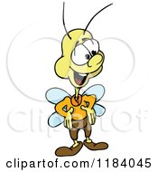 Cartoon Of A Happy Fly Smiling And Looking To The Side Royalty Free Vector Clipart