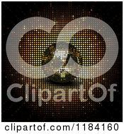 Clipart Of A 3d Golden Disco Ball With A Burst Royalty Free Vector Illustration by elaineitalia