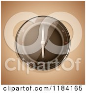 Clipart Of A 3d Reflective Compass On Sepia Royalty Free Vector Illustration