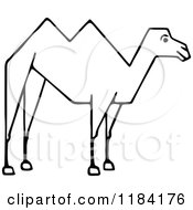 Clipart Of A Sketched Black And White Camel Royalty Free Vector Illustration by Prawny Vintage