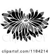 Clipart Of A Retro Vintage Black And White Flower Bloom 2 Royalty Free Vector Illustration