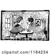 Retro Vintage Black And White John Gilpin Couple