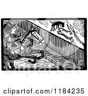 Retro Vintage Black And White John Gilpin On Horseback 5
