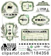 Clipart Of Cash Money And Certificate Design Elements Royalty Free Vector Illustration by BestVector