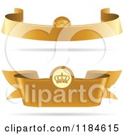 Golden Royal Ribbon Banners With Crowns