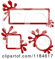 Clipart Of Red Ink Splash Frames Royalty Free Vector Illustration by dero