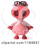 Clipart Of A 3d Pookie Pig Wearing Glasses Royalty Free CGI Illustration by Julos