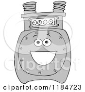 Cartoon Of A Happy Gas Meter Mascot Royalty Free Vector Clipart by djart