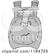 Cartoon Of A Sad Gas Meter Mascot Royalty Free Vector Clipart by djart