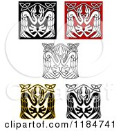 Clipart Of Celtic Stork Knots 3 Royalty Free Vector Illustration by Vector Tradition SM