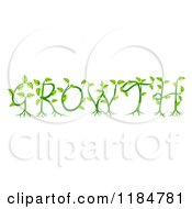 Clipart Of Green Plants And Roots Spelling GROWTH Royalty Free Vector Illustration