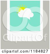 Clipart Of A Smart Phone With A Sun And Cloud Chat Balloon On The Screen Over Tan Royalty Free Vector Illustration by elena