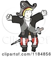 Cartoon Of A Boy In A Pirate Costume Royalty Free Vector Illustration