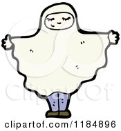 Cartoon Of A Child In A Ghost Costume Royalty Free Vector Illustration
