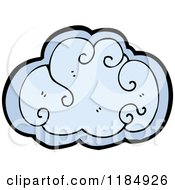 Cartoon Of A Cloud Design Element Royalty Free Vector Illustration by lineartestpilot
