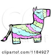 Cartoon Of A Mexican Donkey Pinata Royalty Free Vector Illustration by lineartestpilot