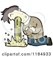 Cartoon Of A Man Vomiting Royalty Free Vector Illustration
