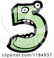 Cartoon Of The Number 5 Royalty Free Vector Illustration