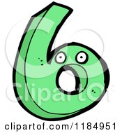 Cartoon Of The Number 6 Mascot Royalty Free Vector Illustration