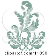 Royalty free rf clipart illustration of a gray victorian floral