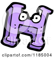 Cartoon Of The Letter H With Eyes Royalty Free Vector Illustration