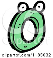 Cartoon Of The Letter O With Eyes Royalty Free Vector Illustration