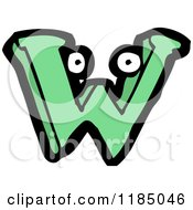Cartoon Of The Letter W With Eyes Royalty Free Vector Illustration