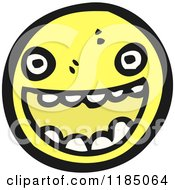 Cartoon Of A Round Face Character Smiling Royalty Free Vector Illustration by lineartestpilot
