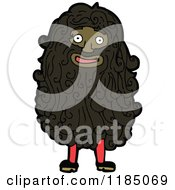 Cartoon Of A Hairy Man Royalty Free Vector Illustration